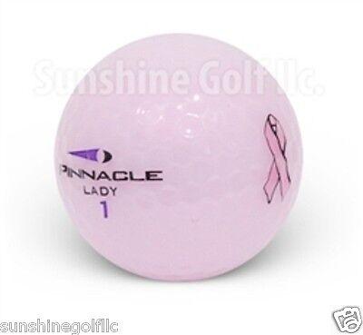 36 Near Mint Pinnacle Pink Ribbon Lady Crystal Mix Used AAAA Golf Balls