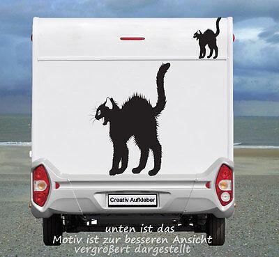 Katzen  Aufkleber, nicht nur für das Wohnmobil oder Wohnwagen