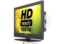 """Sharp 24"""" Full HD Ultra Slim LED TV with DVD & Freeview"""