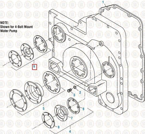 Alternator Drive Seal Kit for Cummins L10 M11 & ISM. PAI