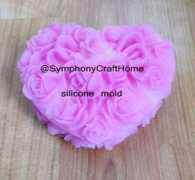 3D big rose silicone mold, rose silicone mold, rose soap mold, rose resin mold