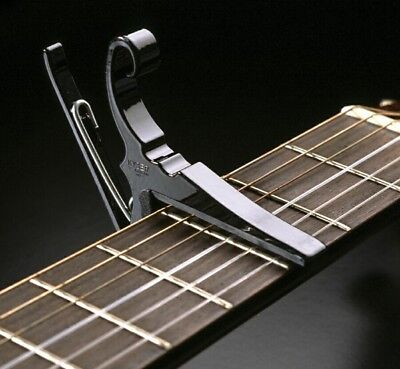 Kyser Quick-Change 6-String Acoustic or Electric Guitar Capo - Black (KG6B) ()