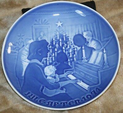 Teller Weihnachten JULE 1971 Bing Gröndahl B & G Weihnachtsteller *TOP* X-MAS