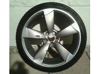 "Audi A1 S LINE 18"" genuine alloy with 225/35/18 bridgstone tyre"