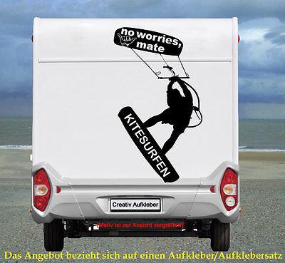 KITE SURFER  – NO WORRIES Aufkleber  für das Wohnmobil…  