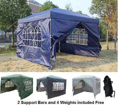 Pop-up Waterproof Outdoor Garden Gazebo 3x3m,2x2m Tent Marquee Canopy With bars