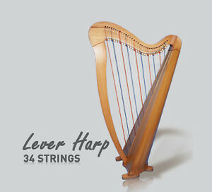 34 Strings Round Back Lever Harp New innovation