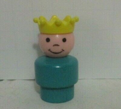 Vintage Fisher Price Little People Family Castle #993 Wood Prince