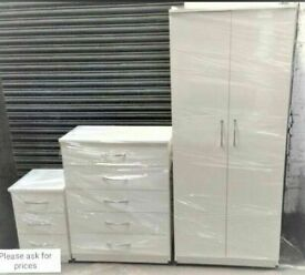 🌞🔥BEST QUALITY NEW WARDROBE, CHEST OFDRAWERS, BED SIDE TABLES ALL NEW READY ASSEMBLED