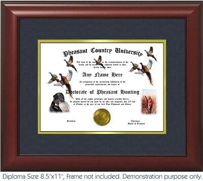 Pheasant Hunting Diploma - Personalized With Your Name/Date - Bird Hunting