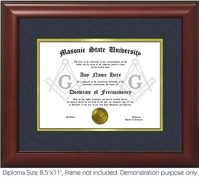 Freemason Diploma - Personalized with your Name/Date- Best on eBay. Masonic .