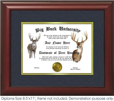 Deer Hunting Diploma - Personalized With Your Name/Date - Best on -