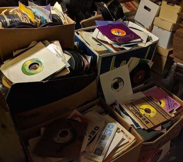 """JUKEBOX LOT : 100 45 rpm RECORDS : random mix 7"""" ROCK POP CO"""