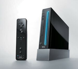 Modded Black Wii Console..Complete