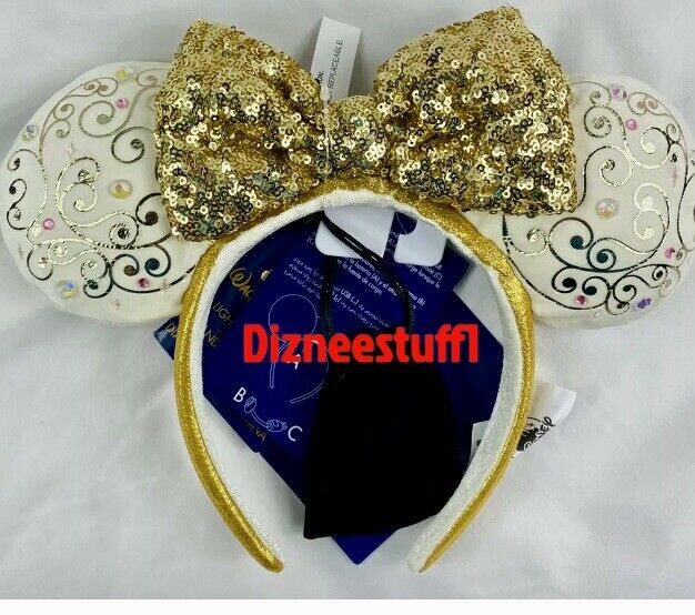 NEW Disney Parks Disney World 50th Anniversary Minnie Ears Light Up Headband