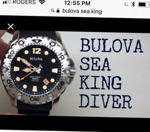 Beautiful Bulova sea diver comes with box instructions and all