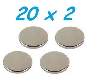 10-MAGNETI-NEODIMIO-20X2-MM-CALAMITA-POTENTE-FIMO-CERAMICA-MAGNETE-CALAMITE