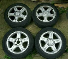 8x Hyundai Coupe Tyres and Alloys