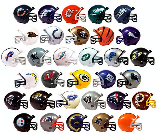 "NFL COLLECTIBLE Mini Helmets Set ALL Complete 32 TEAMS 2"" Gu"