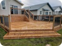 Professional deck and fencing
