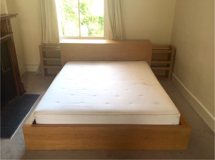 Ikea Malm King Size Double Bed Headboard Storage Unit