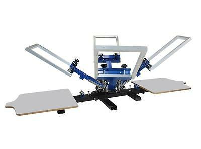 4 Color 2 Station Manual Silk Screen Printing Press Machine Shirt Printer Diy