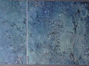 """12.5"""" x 12.5"""" Green/Blue Ceramic Tile made in Italy"""