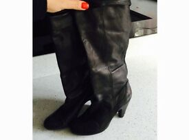 Ladies dune black boots