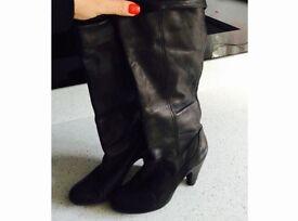 Ladies Dune black boots