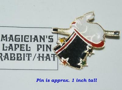 Lapel Pin -- Rabbit Wand and Top Hat  --let 'em know you mean Magic!        TMGS - Magic Hat And Wand