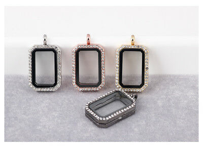 Fashion Jewelry Alloy Rectangular Photo Frame Pendant Floating Locket (Rectangular Pendant)