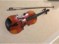 Viola, bow and case