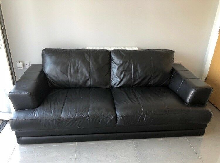 2 seater leather sofa and 1 arm chair in aylesbury