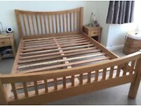 Lovely Oak double bed frame, great condition