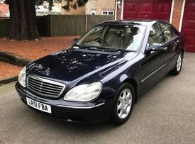 MERCEDES S320 2001 51 PETROL LOW MILEAGE