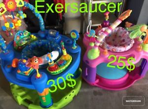 Exersaucer and chairs