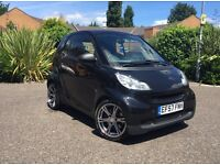 2007 SMART FORTWO PURE 61 AUTO BLACK. BARGAIN. KIT. ALLOYS. EXHAUST. SPORT