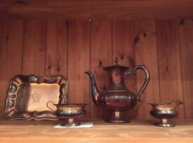 The set of bronze tableware