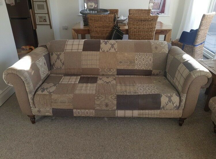 Dfs Shout Stag Patchwork Maxi Sofa In Rotherham South Yorkshire