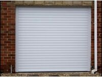 Insulated electric roller shutter garage doors