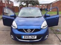 Nissan micra 1.2 petrol 5 door 2015 plate