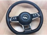 Vw golf mk7 GTI flat bottom steering red stitched dsg