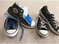 2 pairs genuine Converse size 2