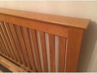 Fantastic solid oak super king size bed frame in excellent condition