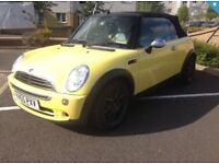 2005 (55) MINI ONE 1.6 CONVERTIBLE, TWO TONE LEATHER INTERIOR