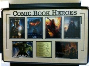 Comic Book Heroes Autographed Movie Poster Frame