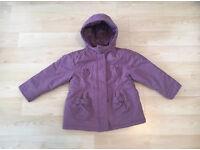 Vertbaudet Girls Coat 2-3 Years Purple Jacket