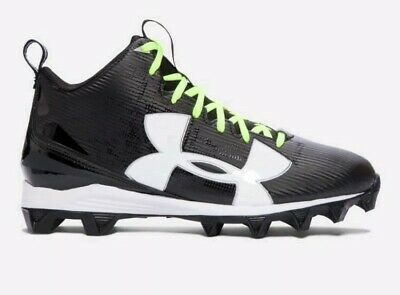 81d7225a2f8 Under Armour UA 1286599 001 Crusher RM Black Football Cleats Men s Size 13  NEW