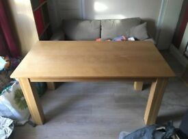 5 foot oak table and chairs £100