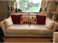 REDUCED Beige sofa and armchair with cushions